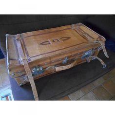 Valise en cuir Ancienne