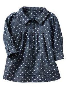 Heart chambray dress | Gap
