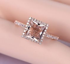 Limited Time Sale Antique 1.25 carat Morganite and Diamond Engagement Ring in 10k Rose Gold for Women by JeenMata on Etsy https://www.etsy.com/listing/526550689/limited-time-sale-antique-125-carat