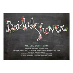 """Floral bridal shower invitations 