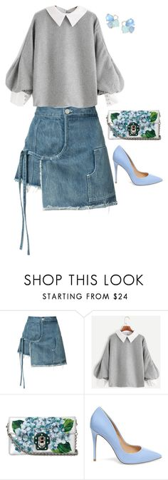 """""""Cute outfit"""" by sarahlong3019 ❤ liked on Polyvore featuring Sandy Liang, Dolce&Gabbana, Steve Madden and Ippolita"""