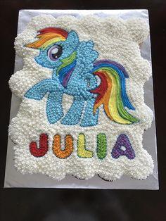 Rainbow dash cupcake cake