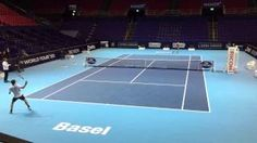 Roger Federer - Dominic Thiem - Training - Basel Swiss Indoors 25.10.2015 - Compilation - YouTube