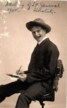"Self Portrait of Ding Darling, just hired by the Sioux City Journal (1904). Courtesy of the Jay N. 'Ding' Darling Wildlife Society & J. N. ""Ding"" Darling Foundation."