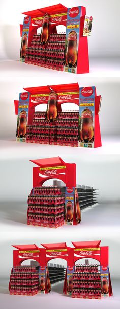 Coca Cola Blitz, Gondola End, POS, POP. Point of sale. Point of purchase.Designed by Lance Eggersglusz.