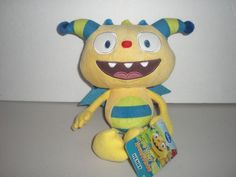 "Henry Hugglemonster 8"" Plush Toy NWT  Disney Junior  Free U.S. Shipping #JustPlay"
