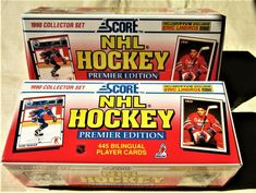 Mario Lemieux Wayne Gretzky 1990 // 1991 Score Hockey Premier Edition Factory Sealed USA Version 445 Card Set Featuring Martin Brodeur Rookie Card Steve Yzerman and Many More!