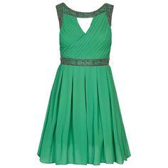 Vestido de coctel verde de TFNC