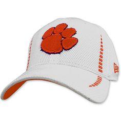 b7b328111cf5f Clemson Tigers New Era Fitted Hat - White   Orange