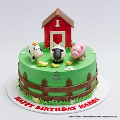 Creative Picture of Farm Birthday Cake . Farm Birthday Cake Jakes Cakes Farm First Birthday Cake Birthday Cakes For Men, Animal Birthday Cakes, Birthday Sheet Cakes, Birthday Cake Pictures, Cupcake Birthday Cake, Themed Birthday Cakes, Barnyard Cake, Farm Animal Cakes, Jake Cake