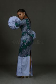 Ready-To-Wear brand Alainé by Celine recently released its new collection titled Virgo ; a range of pieces featuring a new spin on the African Wear Dresses, Ankara Dress Styles, Trendy Ankara Styles, African Fashion Ankara, Latest African Fashion Dresses, African Print Fashion, African Attire, Ankara Skirt, African Style