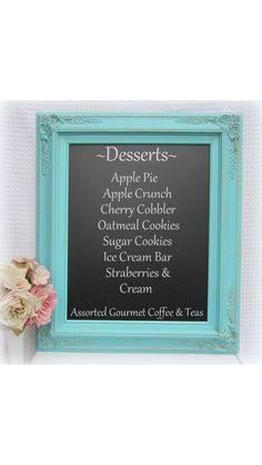 Rustic chalk board menu