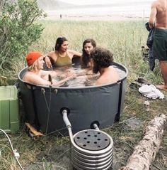 Nomad Collapsible Hot Tub & Coil Combo – The Original Nomad Spa Portable, Portable Toilet, Douche Camping, Piscine Diy, Outdoor Tub, Outdoor Baths, Stock Tank, Saunas, Whirlpool Bathtub