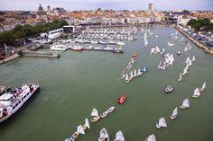 Sortie de voiles, vieux port de la Rochelle
