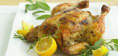 Sandra Lee Lemon-Herb Grill-Roasted Chicken- Lemon-Herb Grill-Roasted Chicken