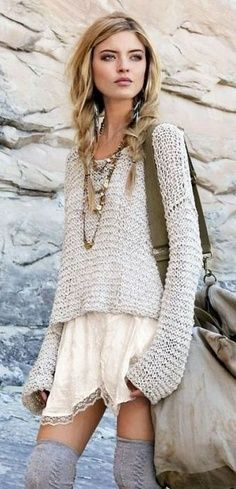 Boho-Casual Bohemian Styling  Great outfit