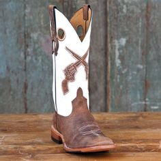 Horse Power White Pistol Boots - would go great with my purse, and of course my gun.
