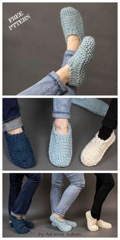 Knit Cloud Slippers Free Knitting Pattern Source by Missabbyvanb Knitting Paterns, Easy Knitting, Loom Knitting, Knitting Socks, Knitting Stitches, Knit Patterns, Knitting Tutorials, Knitting Machine, Stitch Patterns