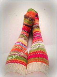 Peppi Pitkätossu tyylillä villasukat :) #woolsocks #womenswoolsocks #villasukat…