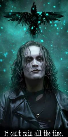 """Happy Birthday to Brandon Lee son of Bruce Lee. He would have been 51 today. """"The Crow"""" by TeomanMete on by thegeekrealm Brandon Lee, Bruce Lee, Crow Movie, I Movie, Movies Showing, Movies And Tv Shows, Dark Romance, Crow Art, Images Gif"""