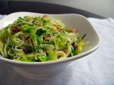 Recipe: Pasta with Shaved Brussels Sprouts and Pancetta