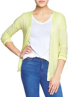 Could use a colorful cardigan like this when spring nears.