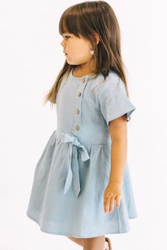 14544bcde89e Cute Short Sleeve Dress Outfit For Little Girls