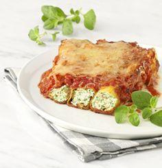 Cannelloni van tonijn en spinazie