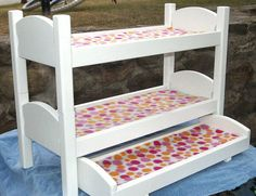 Doll Bunk Bed with Trundle - it doesn't have to have fancy ends