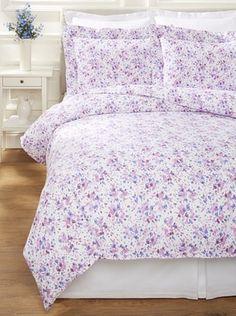 Dea Machilina Printed Fabric Duvet Set (Pink)