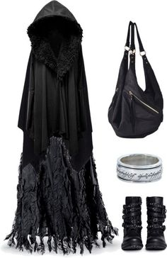 Love this caped dress and those boots are to die for, the ring if it was in gold...