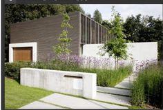 Terras Mailbox Landscaping, Modern Landscaping, Minimalist Garden, Garden Paving, Garden Architecture, Contemporary Garden, Facade Design, Cool Landscapes, Garden Inspiration
