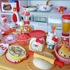 Hello Kitty kitchen set! Never too old! LOVE!