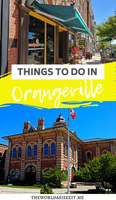 Set in the rolling hills of Ontario's Headwaters region is a charming town full of history. Discover the top things to do in Orangeville, Ontario ⋆ The World As I See It Vancouver, Toronto, Ottawa, Quebec, Cool Places To Visit, Places To Travel, Amazing Destinations, Travel Destinations, Columbia