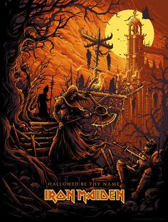 Hallowed Be Thy Name variant by Dan Mumford | Iron Maiden