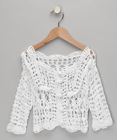 Take a look at this White Knit Cardigan - Toddler & Girls  by H. Maude on #zulily today!