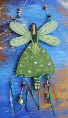 Tree+Fairy+Wooden+Hanger+by+karendavis+on+Etsy