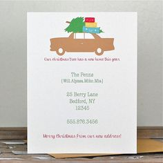 Christmas Cards . Holiday Card Set . Moving Announcement Christmas Cards . New Address Announcement Holiday Cards - Our Tree Has A New Home on Etsy, $18.00