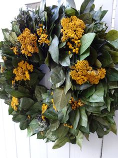 Autumn Wreath   Preserved Wreath   Salal and by donnahubbard