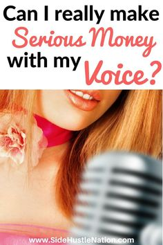 So inspirational! in just 4 months! She makes up to $3,000 per hour...I need to do this.  Love this story of how one woman started making amazing money as a voiceover artist and quit her day job. Could be the best way to make money using your voice, side