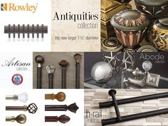 Aria Metal Hardware from Rowley Company can be found at Windows Dressed Up. Located in north Denver . Window Hardware, Drapery Hardware, Drapery Rods, Curtain Rods, Custom Curtains, Drapes Curtains, Rowley Company, House Windows, Moving House