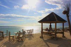 gili islands  sunset beach