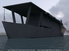 旧日本帝国海軍航空母艦「赤城」by 3ds Max Japan Imperial Navy aircraft carrier AKAGI by 3ds Max