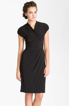 Suzi Chin for Maggy Boutique Ruched Faux Wrap Dress | Nordstrom