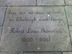 Engraved paving at the Writers' Museum, Edinburgh Another thing to look out for on your trip down the Royal Mile www.2edinburgh.com Robert Louis Stevenson, Edinburgh, Writers, Britain, Scotland, Creativity, Museum, Places, Travel