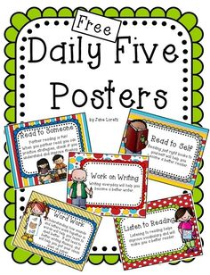 Free Daily Five posters. by vcateacher