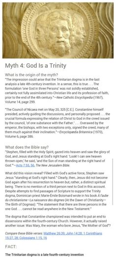 """Christian"" teachings actually not taught in the Bible....Myth 4 ..... check the facts"