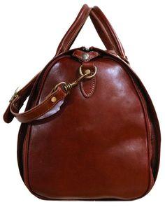 Cenzo Garment Duffle Travel Bag Suitcase in Brown Full Grain Leather Leather Duffle Bag, Leather Bags, Garment Bags, Leather Working, Italian Leather, Fashion Bags, Women's Fashion, Travel Bags, Leather Men