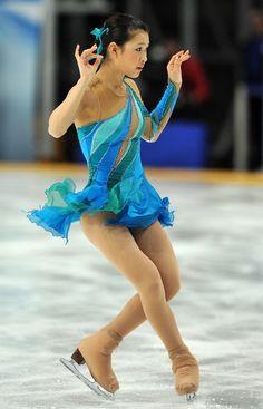 Kanako Murakami,-Blue Figure Skating / Ice Skating dress inspiration for Sk8 Gr8 Designs.