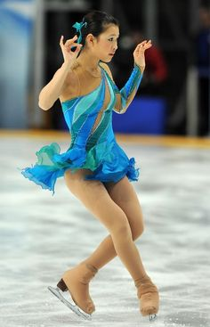 Kanako Murakami,-Blue Figure Skating / Ice Skating dress inspiration for Sk8 Gr8 Designs.